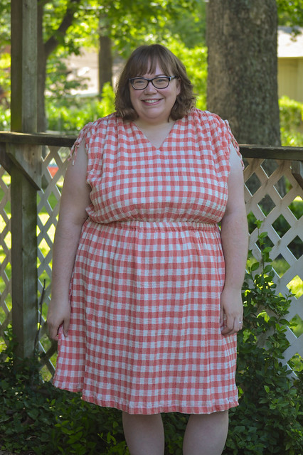 Coral gingham Kimmy
