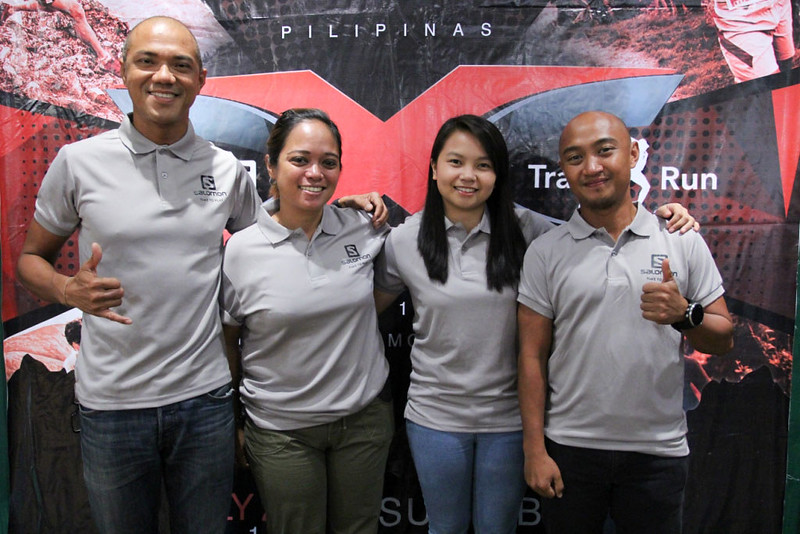 Salomon Pilipinas Team (L- R)_Coach Ige Lopez - Salomon Athlete_ Janice Tanada - Sr. Brand Manager_ Jessa Runes - Sr. Brand Associate and Atty. Aldean Lim - Salomon Athlete