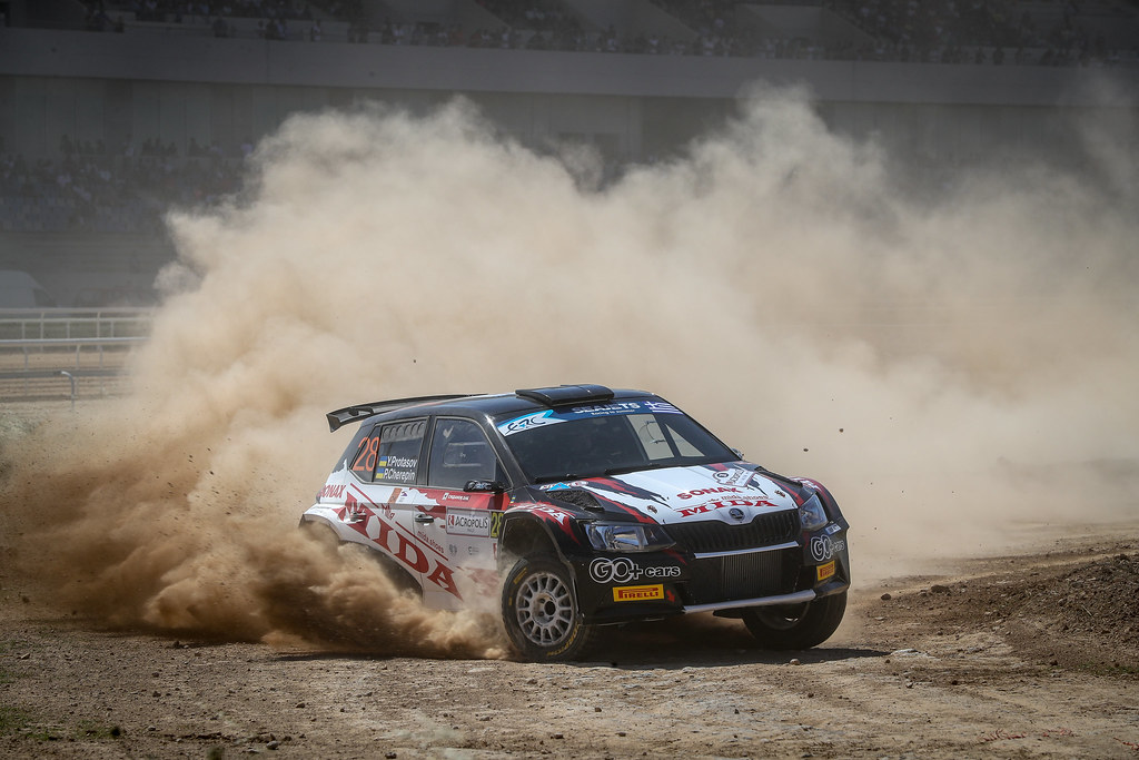 28 PROTASOV Yurii (ukr), CHEREPIN Pavlo (ukr), Skoda Fabia R5, action during the European Rally Championship 2018 - Acropolis Rally Of Grece, June 1 to 3 at Lamia - Photo Alexandre Guillaumot / DPPI