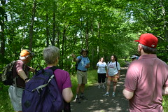 Rep. Ziobron leads a trails day hike on the Airline Trail with the Middlesex County Land Trust