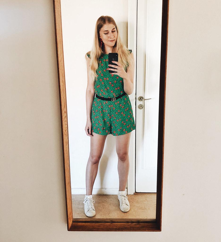 grön jumpsuit