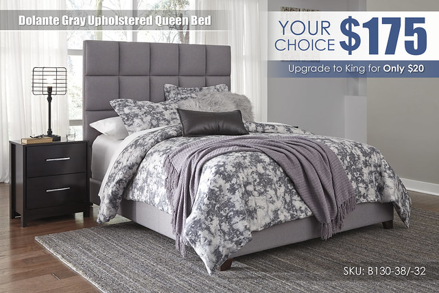 Dolante Grey Box Upholstered Queen Bed_B130-381-B071-92_Special