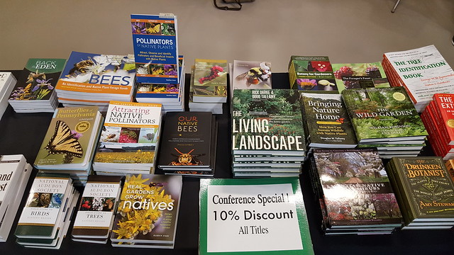Just a few of the books for sale at the Native Plants in the Landscape Conference 2018