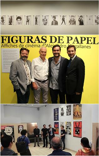 Inauguración de la exposición figuras de papel 56 carteles de cine de Alejandro Magallanes