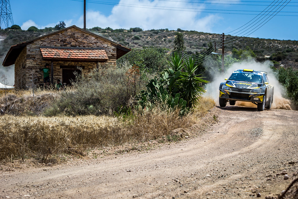 06 GALATARIOTIS Simos (CYP), IOANNOU Antonis (CYP), SIMOS GALATARIOTIS, SKODA FABIA R5, action during the 2018 European Rally Championship ERC Cyprus Rally,  from june 15 to 17 at Larnaca, Cyprus - Photo Thomas Fenetre / DPPI