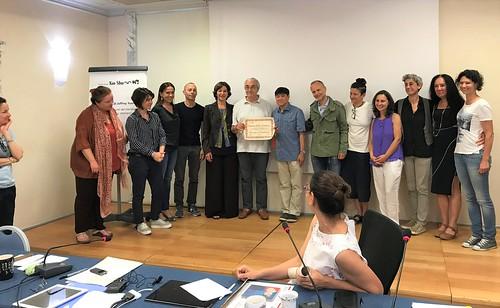 I Seminari del Maestro Jeffrey Yuen - 2018. Consegna diploma: Giuseppe Trombetti