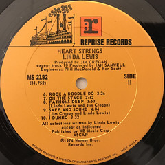 LINDA LEWIS:HEART STRINGS(LABEL SIDE-B)