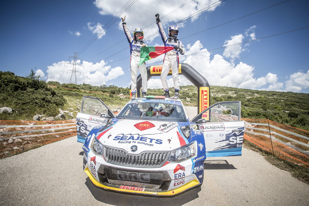 MAGALHAES Bruno (prt), MAGALHAES Hugo (prt), SKODA FABIA R5, portrait during the European Rally Championship 2018 - Acropolis Rally Of Grece, June 1 to 3 at Lamia - Photo Gregory Lenormand / DPPI
