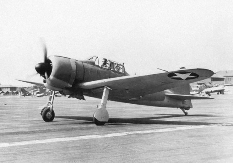 U.S. Navy Lieutenant Commander Eddie Sanders taxis a captured Imperial Japanese Navy Zero fighter at Naval Air Station San Diego, California in September 1942. The fighter, piloted by Tadayoshi Koga, had crashed on Akutan Island, Alaska on June 4, 1942 after participating in an attack on Dutch Harbor. Koga was killed in the crash. On July 11, 1942 the US military recovered the aircraft and sent it the US where it was put into flying operation and used for intelligence purposes.