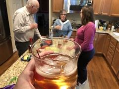 Drinking an old fashioned at Dorothy's memorial this evening