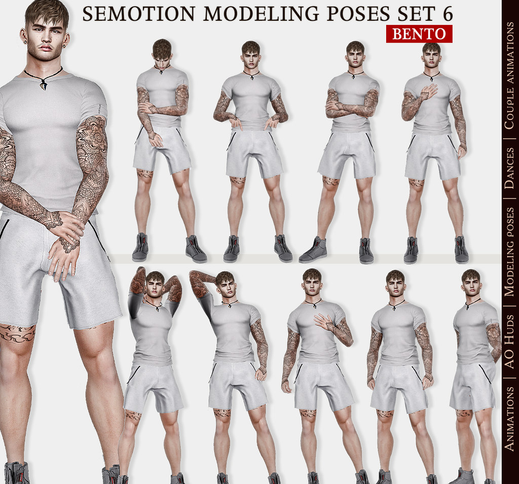 SEmotion Male Bento Modeling Poses Set 06 – 10 modeling poses