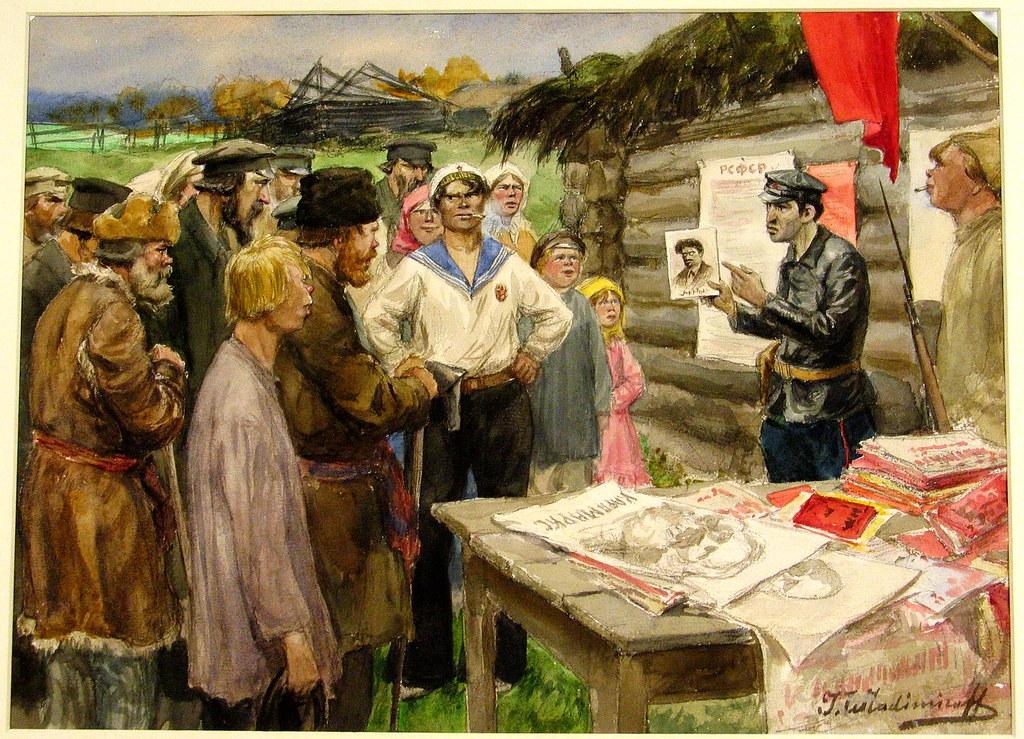 俄国内战与革命的写实绘画07