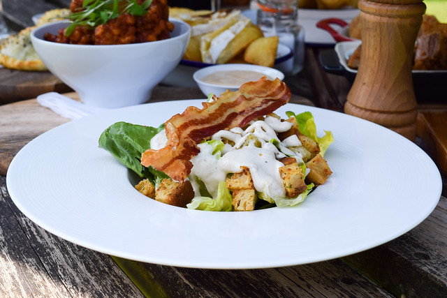 Ceasar Salad at The Compasses Inn, Crundale