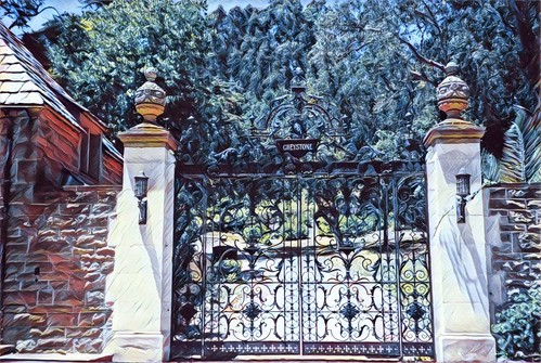 los angeles ca california greystone mansion county iron gate doheny style architecture tudor landscape estate beverleyhills english architect kaufmann design unitedstates 1928 tycoon city donated onasill nrhp historic historical landmark park tourist travel attractionsite rich movie stars