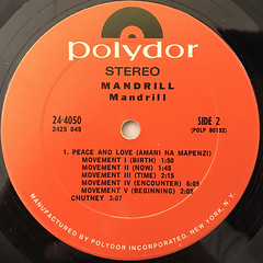 MANDRILL:MANDRILL(LABEL SIDE-B)