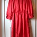 dress red leslie fay