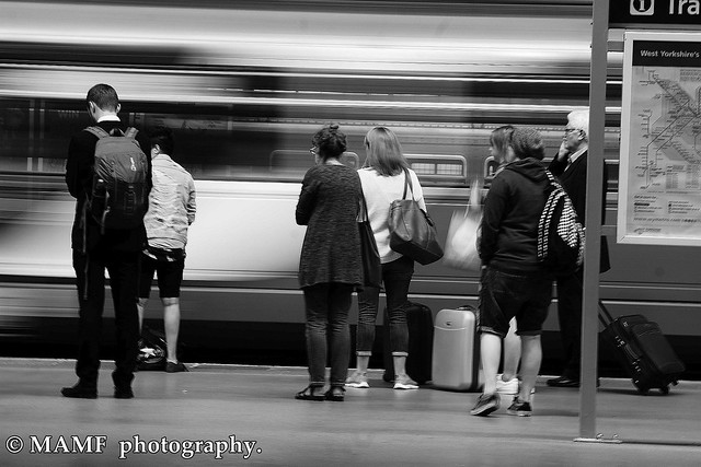 Train Please follow me and leave a comment if you like my work.  I would love to follow you back, but please no group advertisements.moton blur at Leeds city station