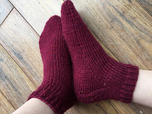 Christina's socks from David's Toe-Up Sock Cookbook