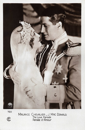 Jeanette MacDonald and Maurice Chevalier, The Love Parade (1929)
