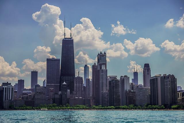 Memorial Day Chicago Skyline