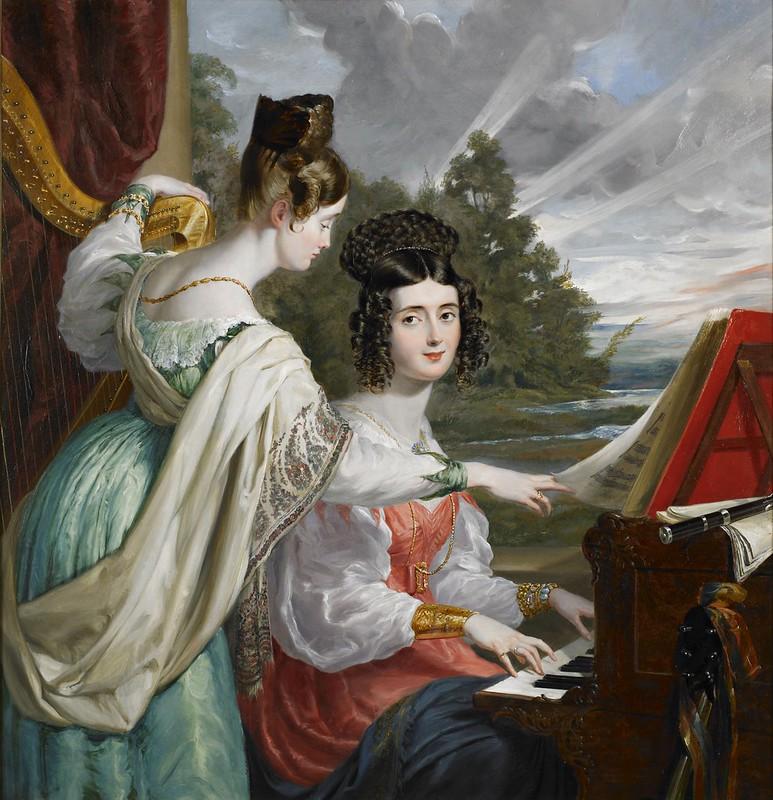 George Hayter - The Hon. Charlotte Stuart and The Hon. Louisa Stuart (1830)