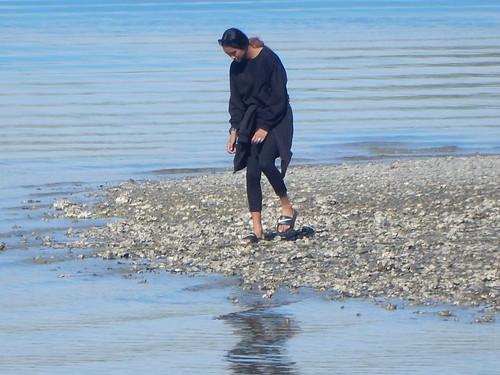 Maori Woman on Shore