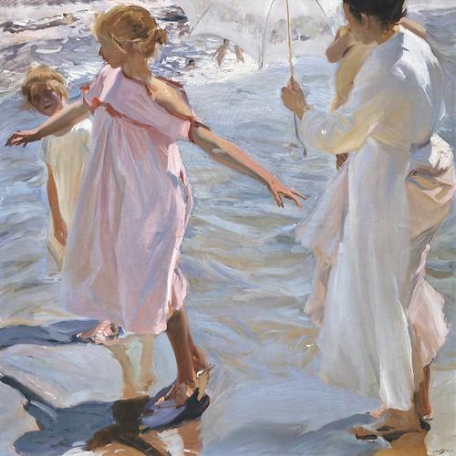 Joaquín Sorolla y Bastida (Spanish, 1863-1923), Bath Time, Valencia (La hora del baño, Valencia)