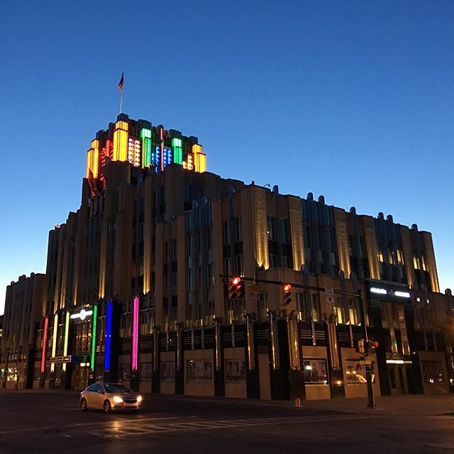 Art Deco with colorful lighting. Syracuse