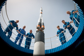 Expedition 56 prime and backup crew members pose for pictures | by NASA Johnson