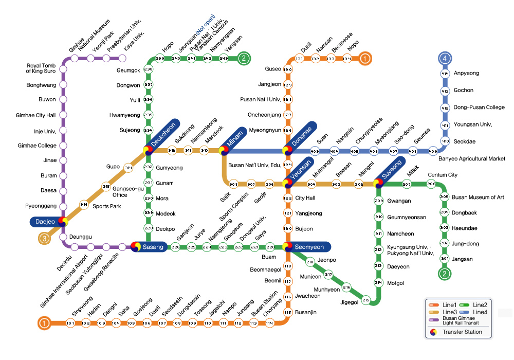 Gyeongju Subway Map - Subway Line E