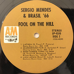 SERGIO MENDES & BRASIL '66:FOOL ON THE HILL(LABEL SIDE-B)