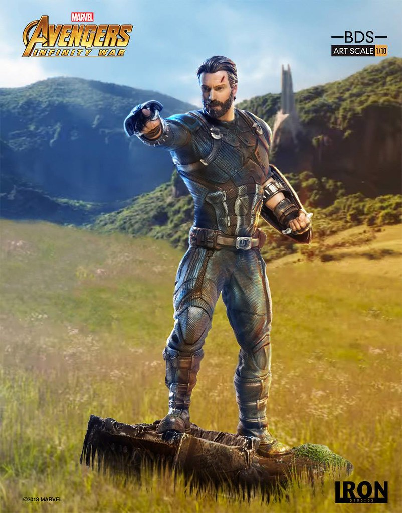 Avengers Assemble! Iron Studios Captain America BDS Art Scale 1/10 – Avengers: Infinity War