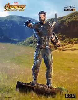 大鬍子隊長參戰!! Iron Studios Battle Diorama 系列《復仇者聯盟3:無限之戰》美國隊長 Captain America 1/10 比例決鬥場景雕像作品