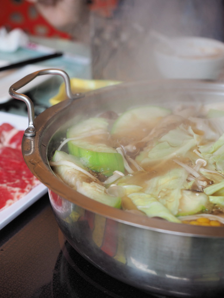 Our steamy steamboat pot.