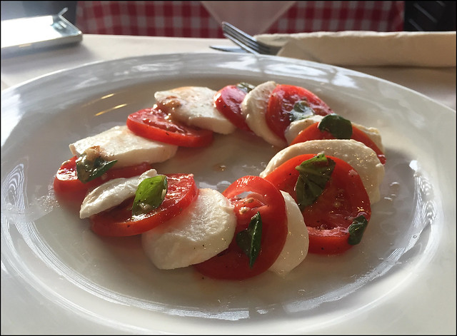 Tomato and Mozzarella Salad at Casina Rossa Restaurant in Phuket