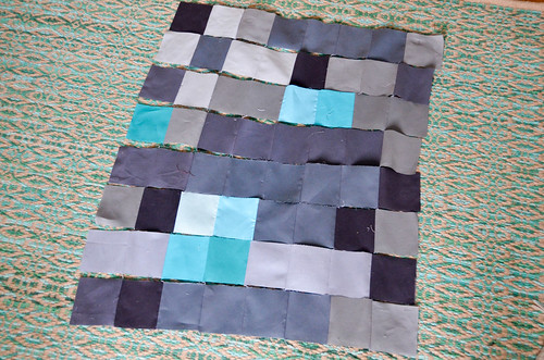 7. Pin & sew rows together.