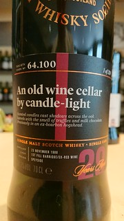 SMWS 64.100 - An old wine cellar by candle-light
