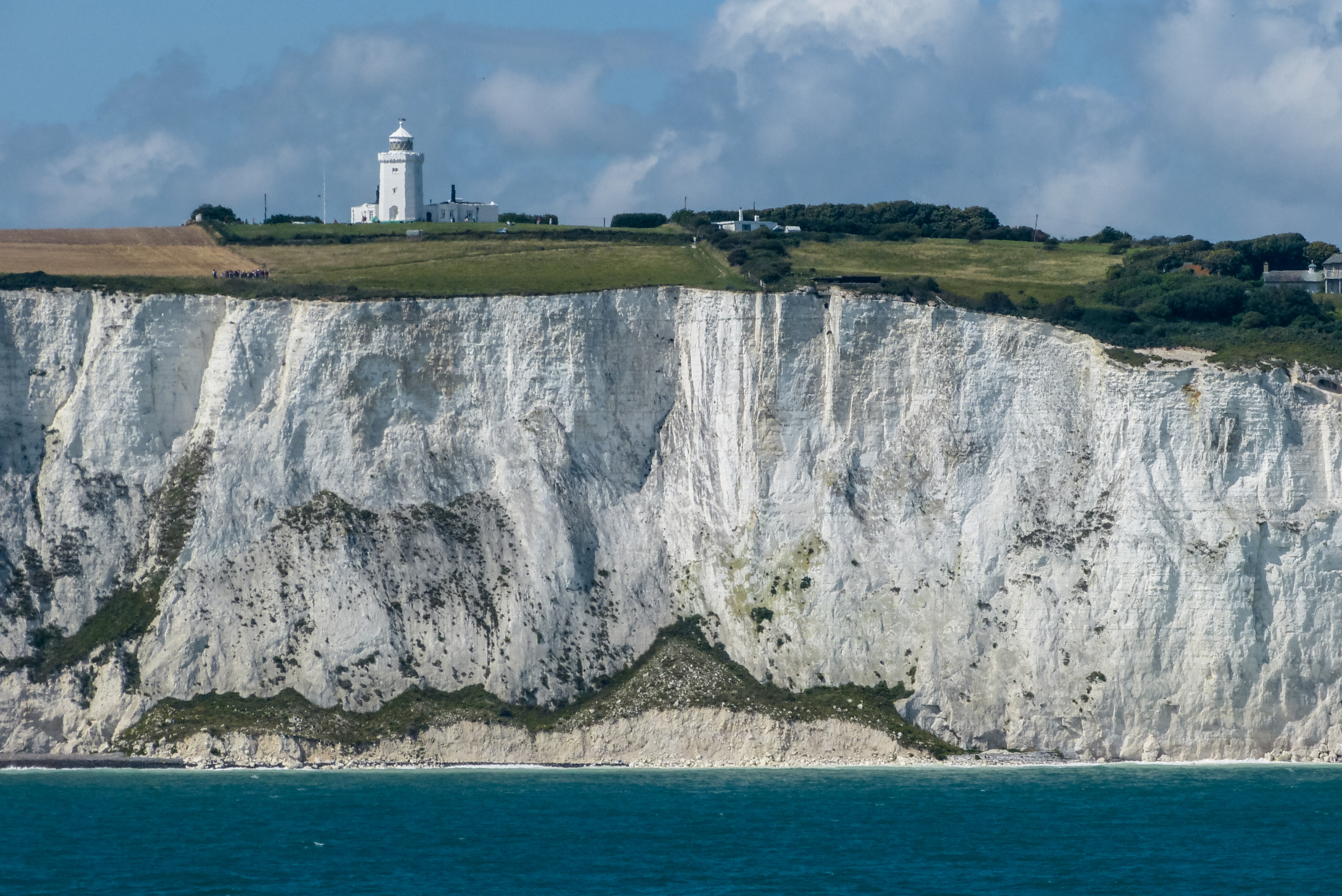 South Foreland Lighthouse on the White Cliffs of Dover. Photo taken on August 4, 2012.
