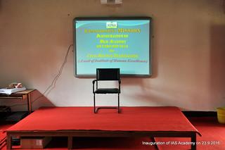 IAS Academy inauguration 23-9-2016