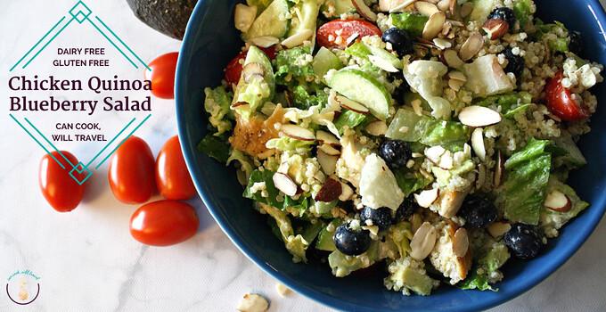Chicken Quinoa Blueberry Salad