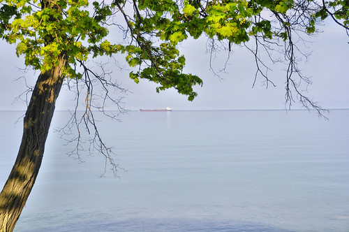 A Freighter Floats By