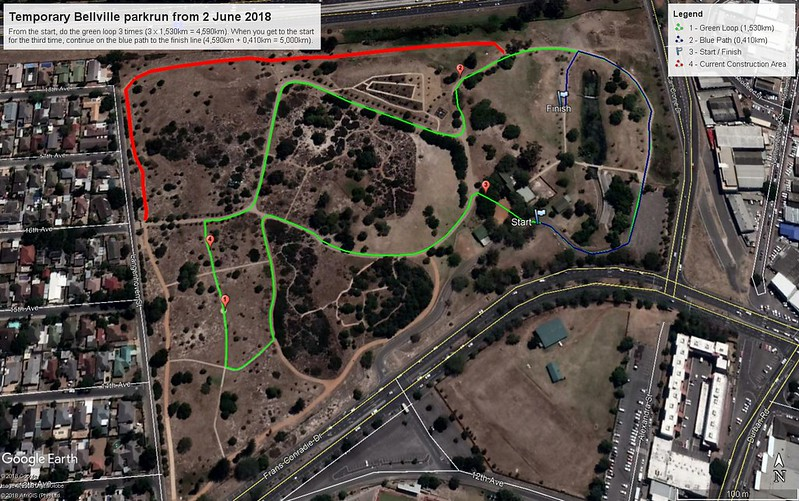 Temporary Bellville parkrun 2 June 2018