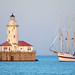 Chicago Harbor Lighthouse & Windy by dpsager