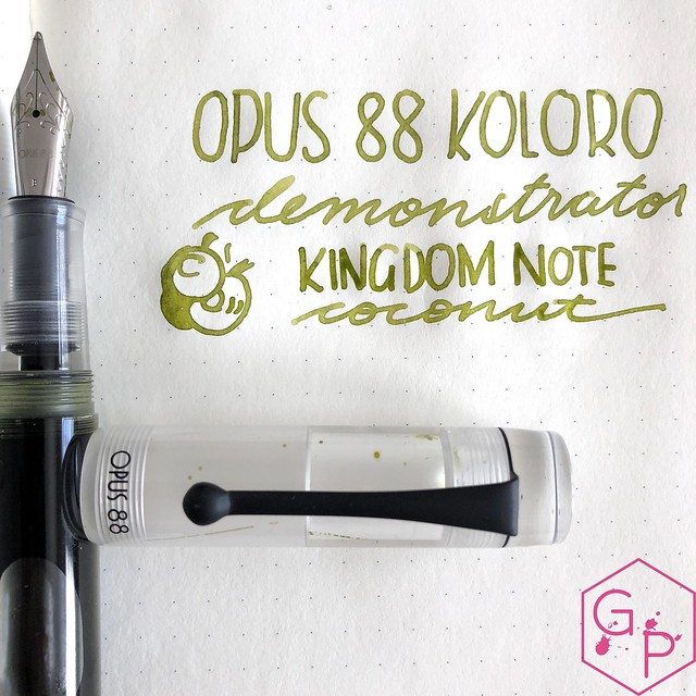 Opus 88 Koloro Demonstrator Fountain Pen Review @GoldspotPens 21