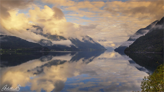 Morning on the Hardangerfjord, Norway