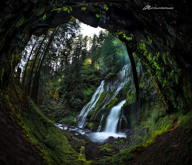 A very different view of Panther Creek Falls