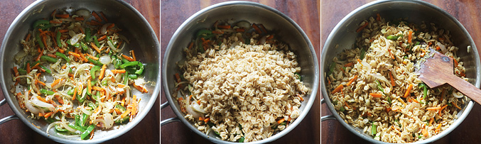 How to make fried rice style oats recipe - Step7