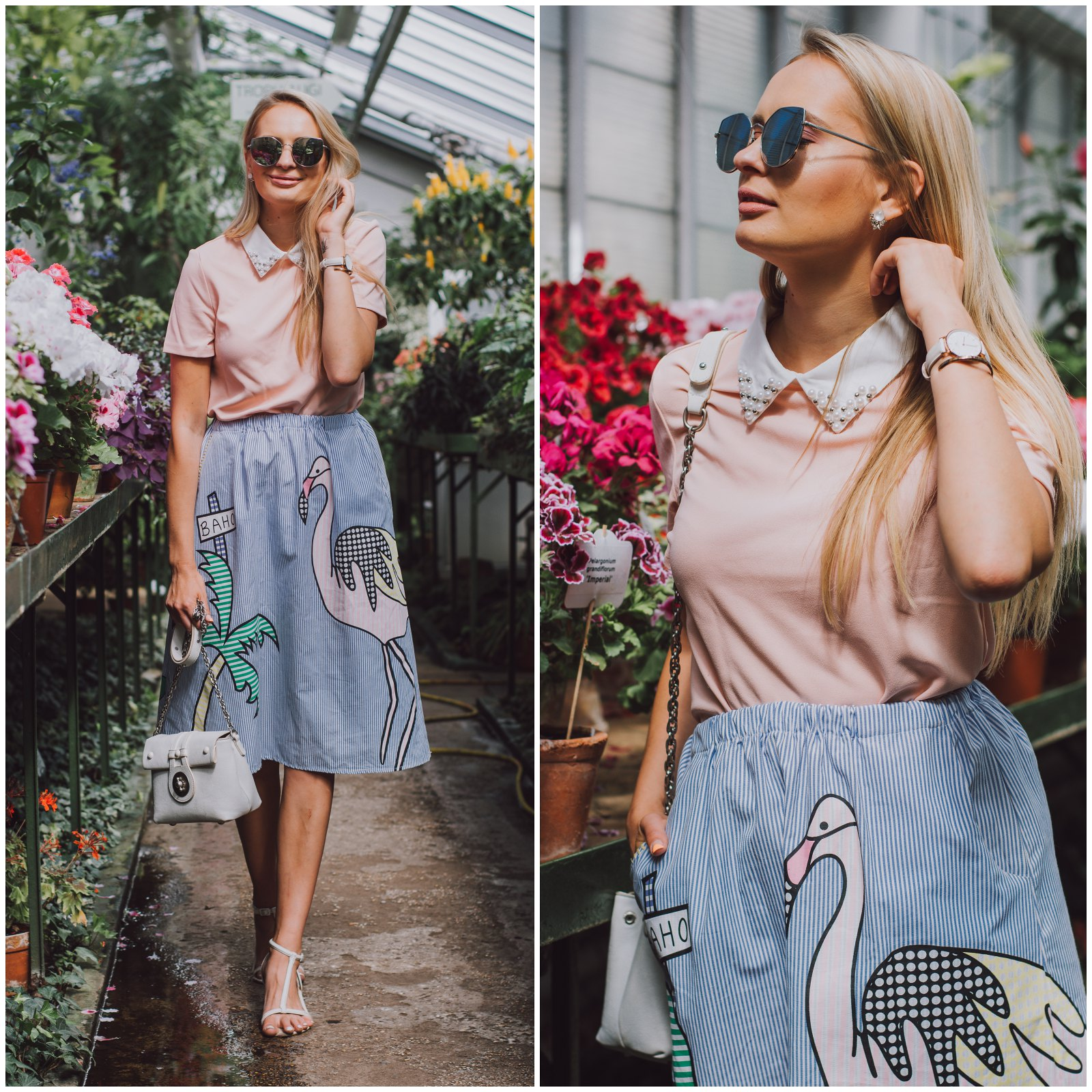 Flamingo skirt outfit