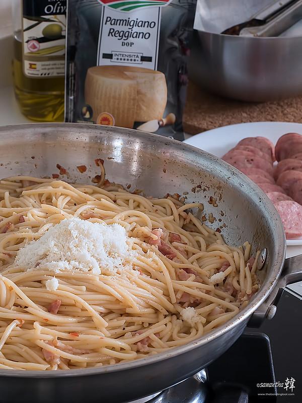 20180617 Spaghetti Alio Olio Smoked Bratwurst _6170086