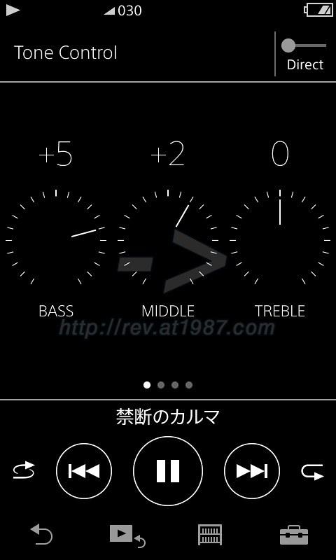Sony Walkman ZX300 - Tone Control